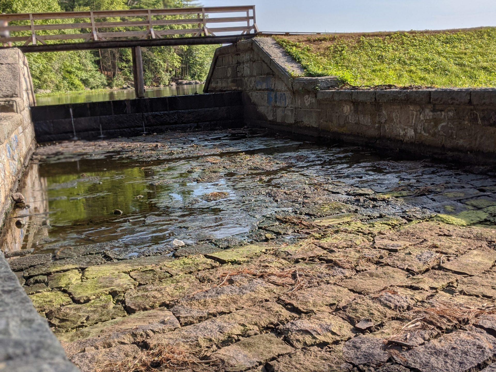 Ashland Dam Spillway - dry in July 2020