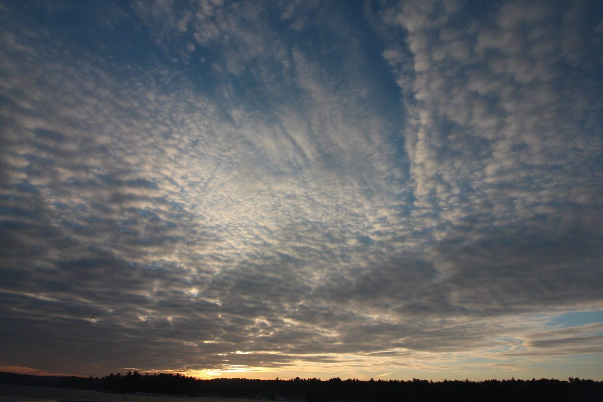 December 2020 sunset Ashland State Park