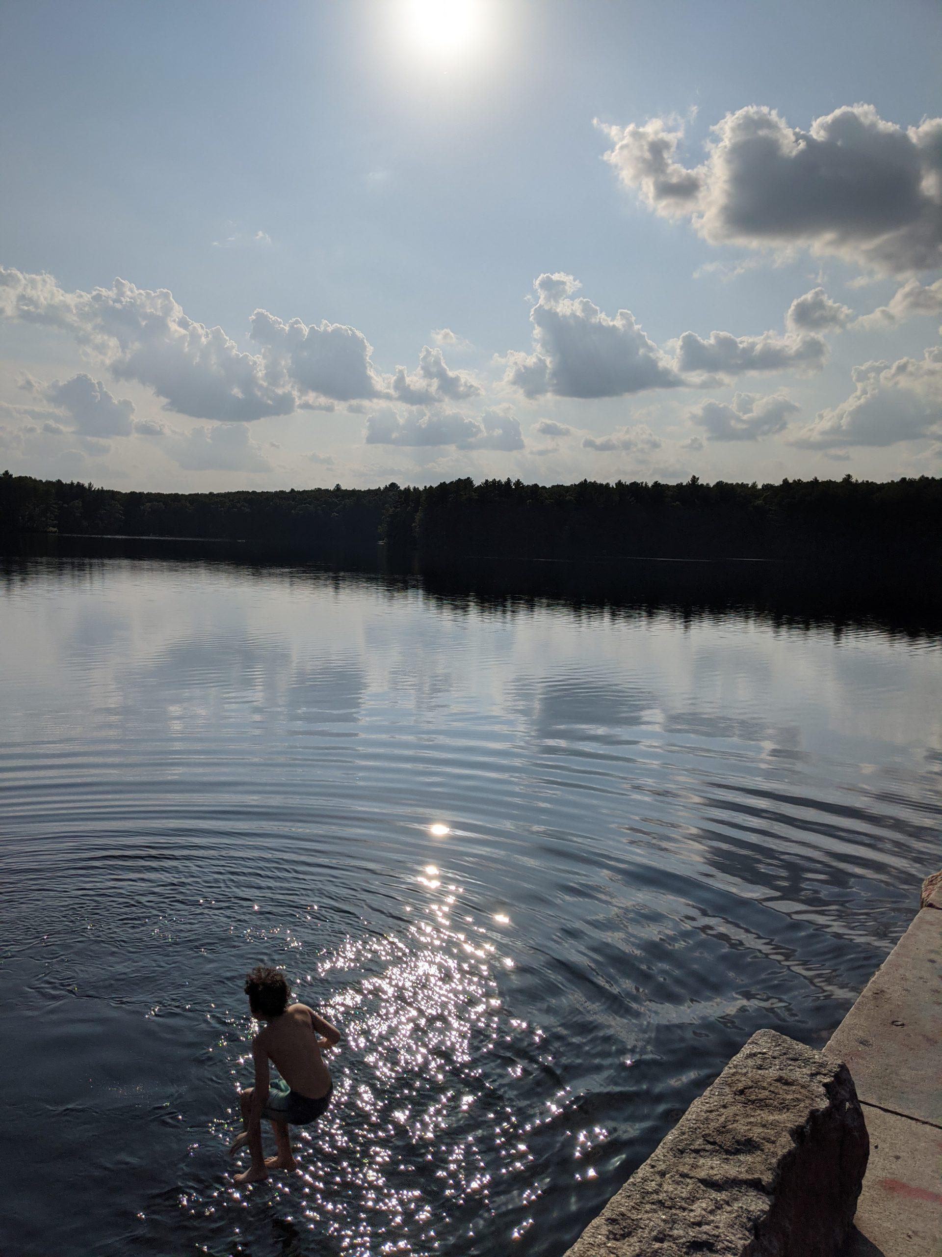 Walking on water - Ashland Dam - September 2020