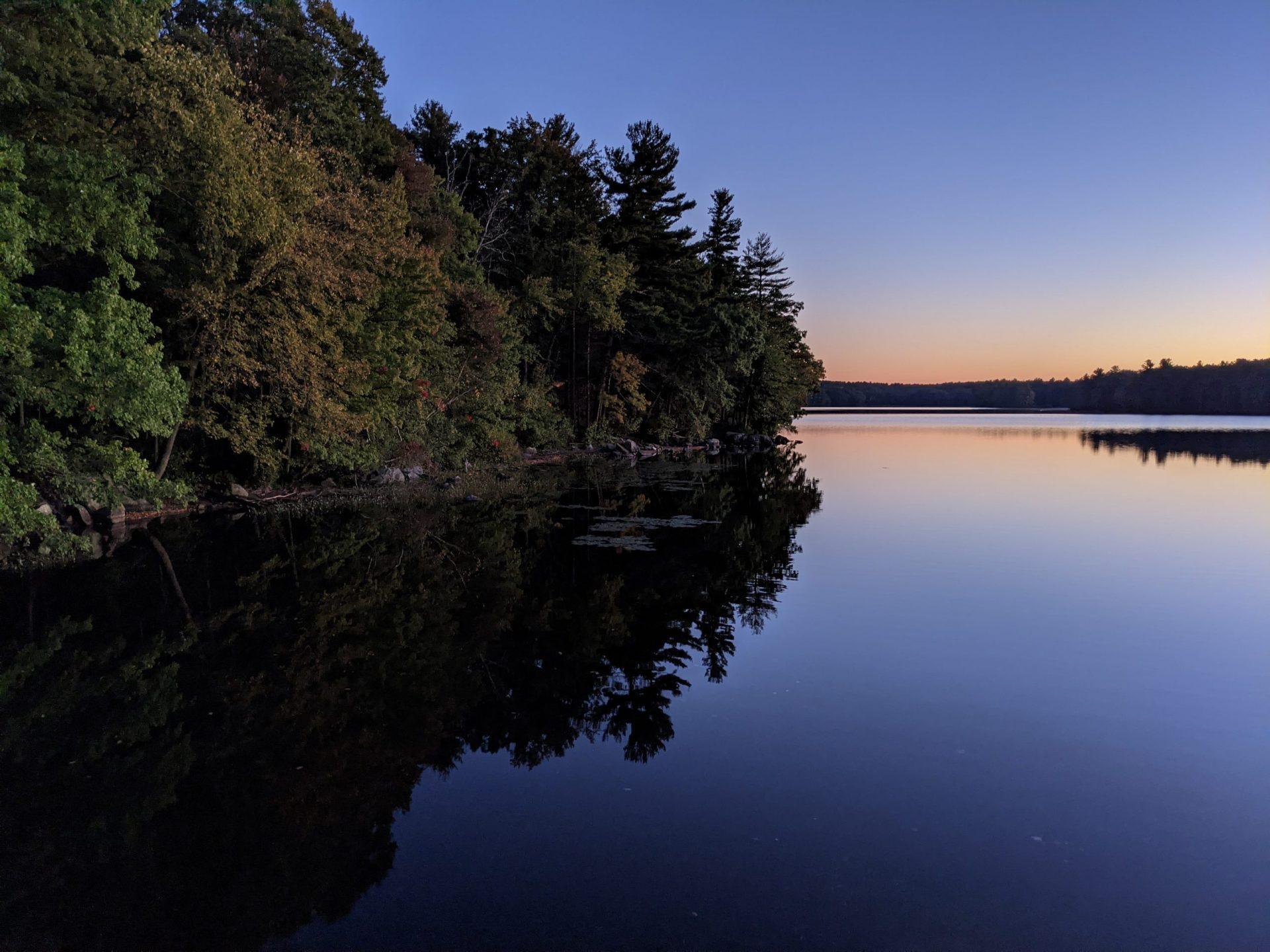 October sunset Ashland State Park