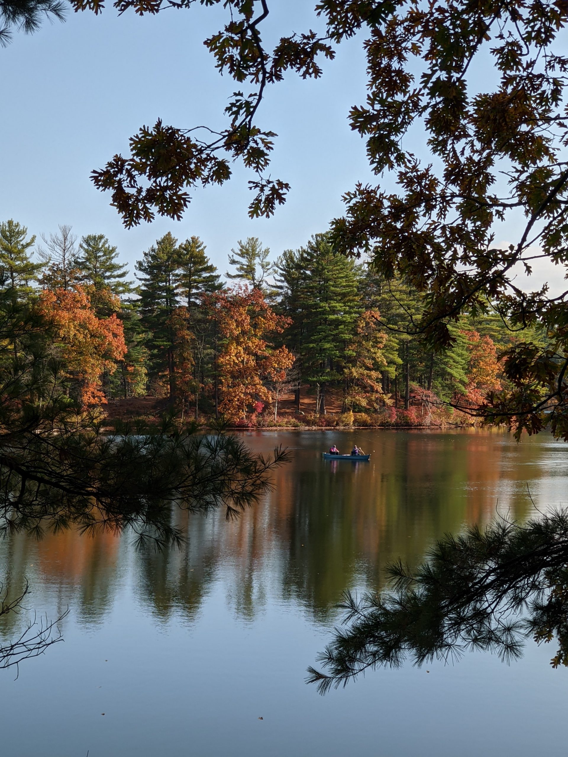 October canoeists Ashland State Park