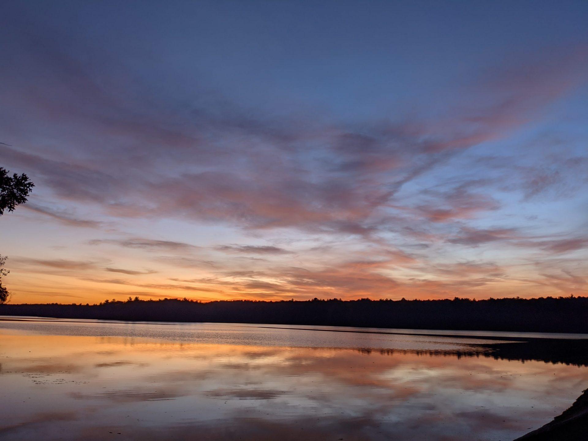 November sunset Ashland State Park
