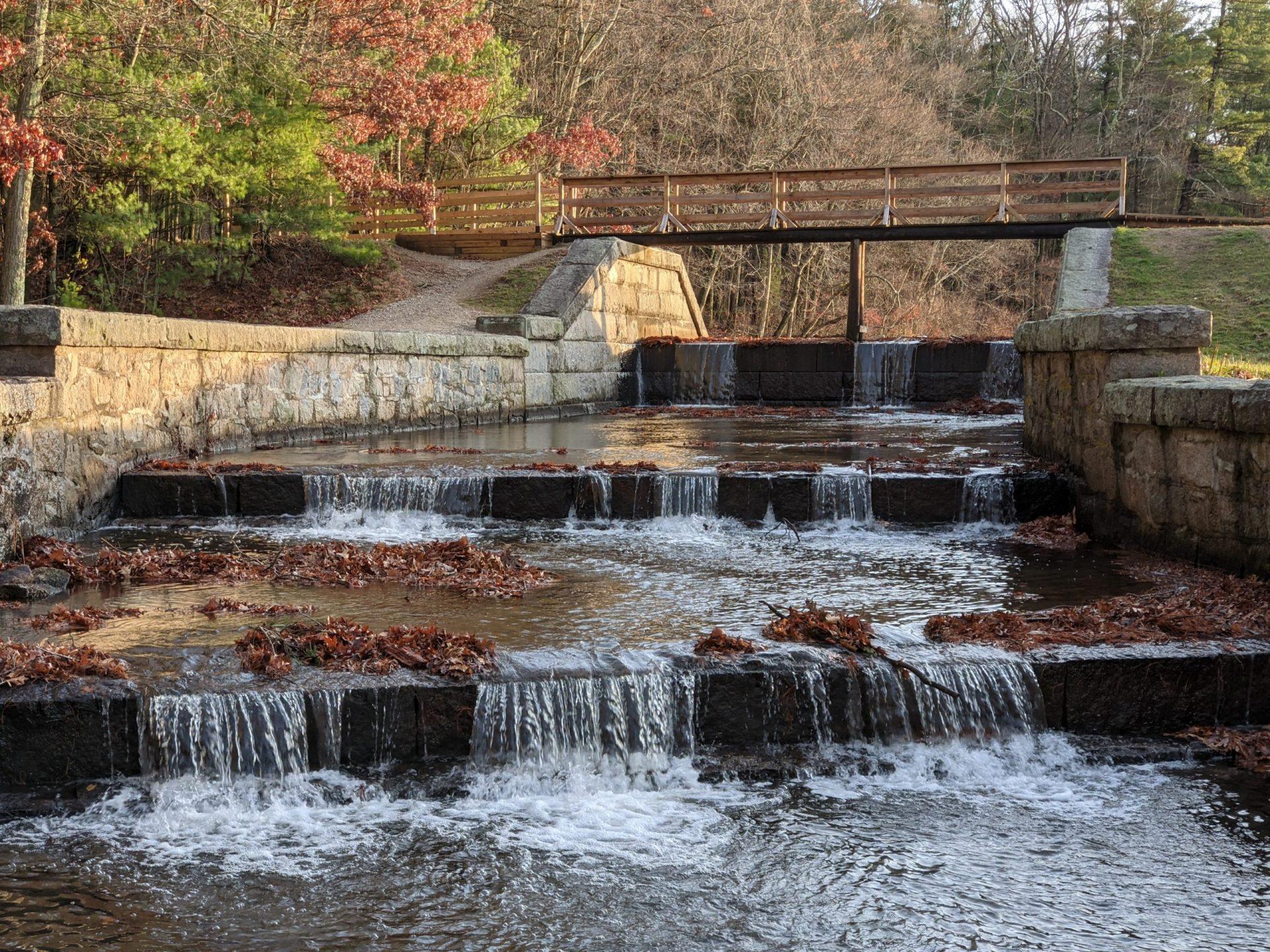 Spillway flowing again November 23rd Ashland State Park