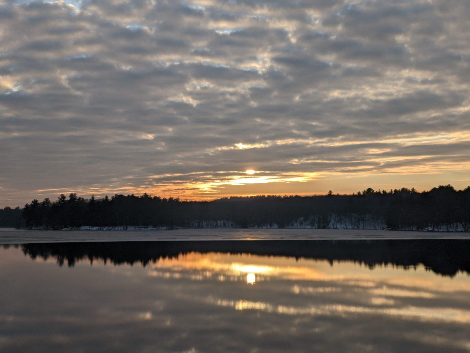 Sunset December 2020 - Ashland Reservoir