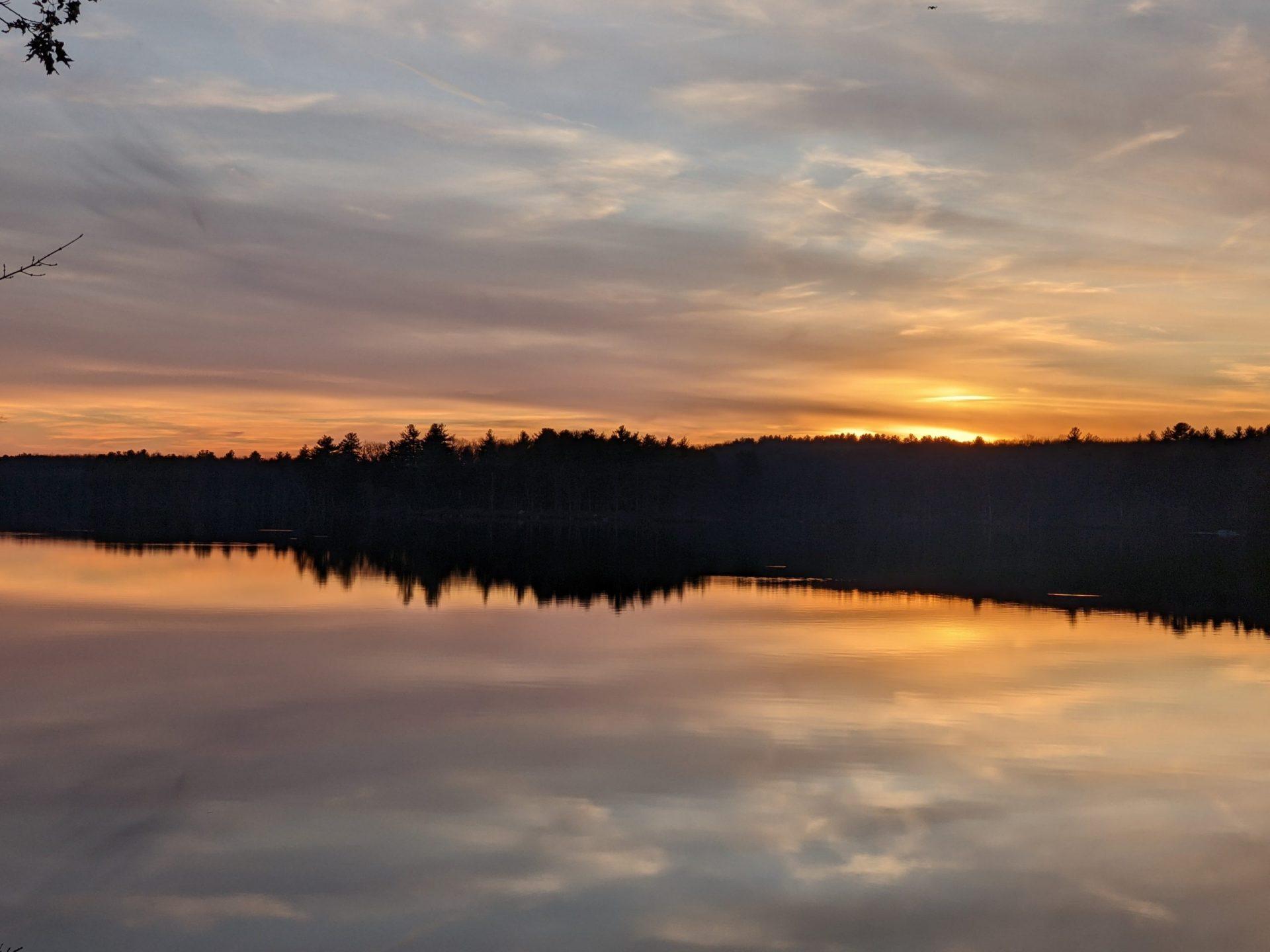 Ashland State Park Sunset December 27, 2020 Ashland State Park
