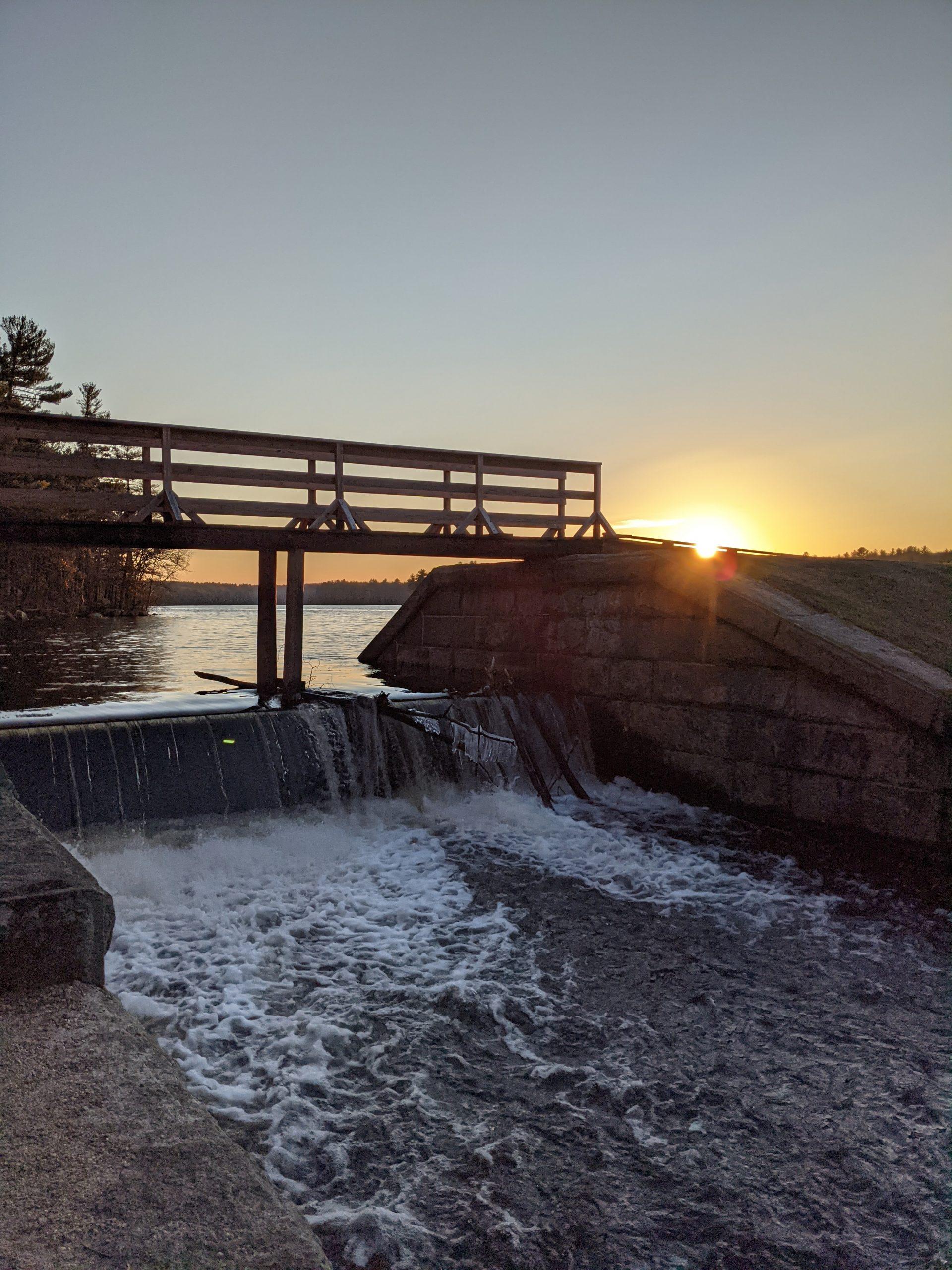 Ashland Reservoir Spillway & Pedestrian Bridge December 28, 2020