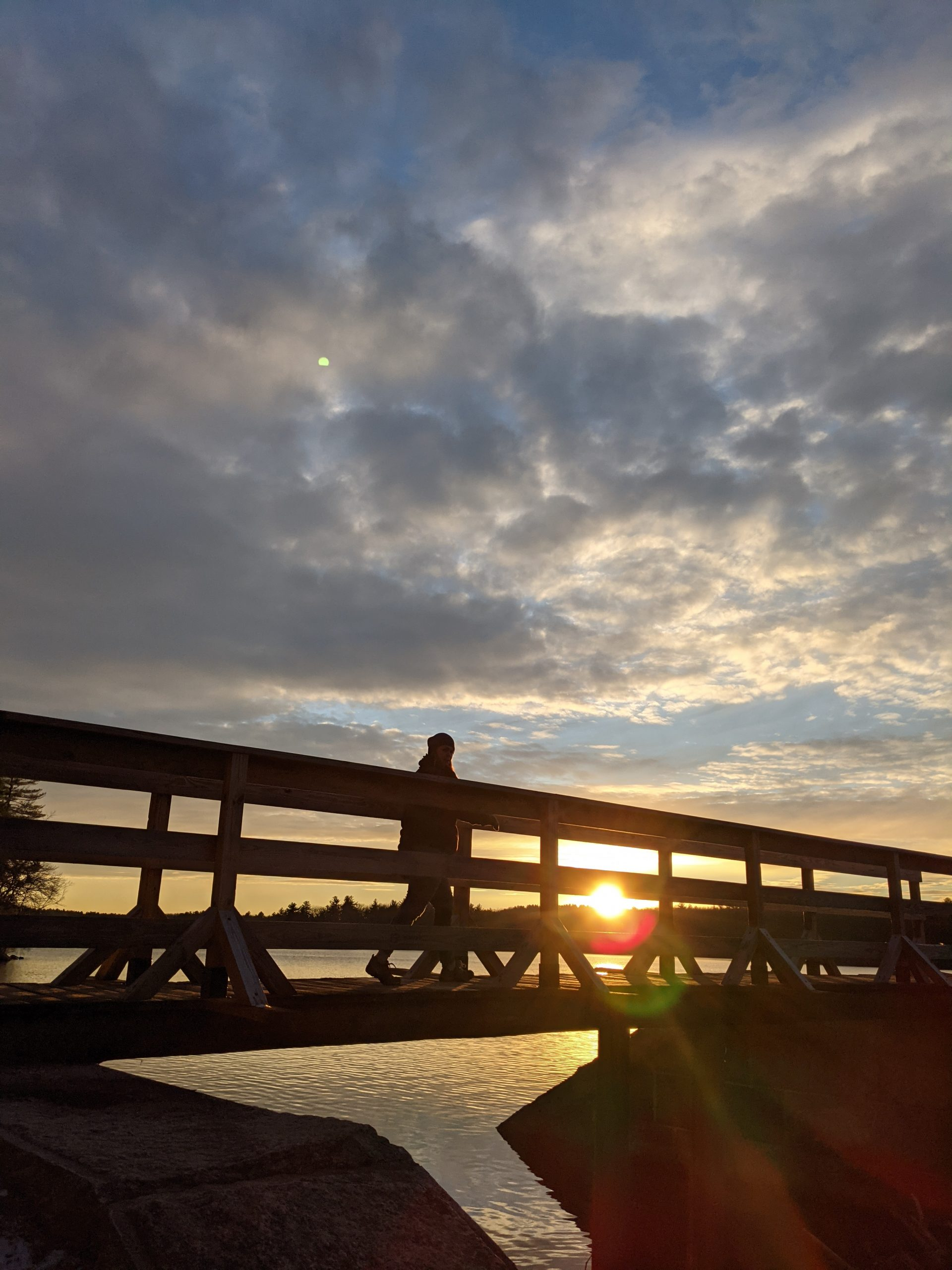 Pedestrian Bridge at Sunset Ashland State Park January 6, 2021